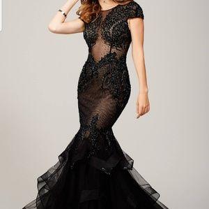 Jovani Black Mermaid Dress